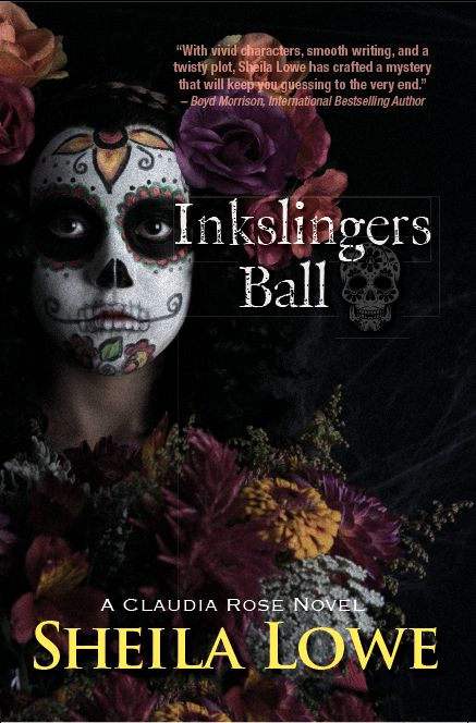 Book Cover of Inkslingers Ball by Sheila Lowe